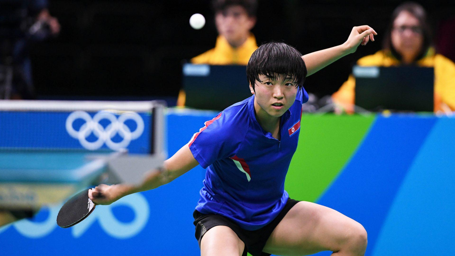北韓微笑削球手金頌一完美發揮奪下銅牌